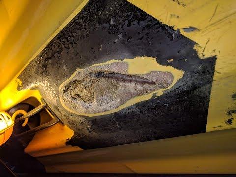 Fiberglass Gash Repair - Sea Doo XP PWC