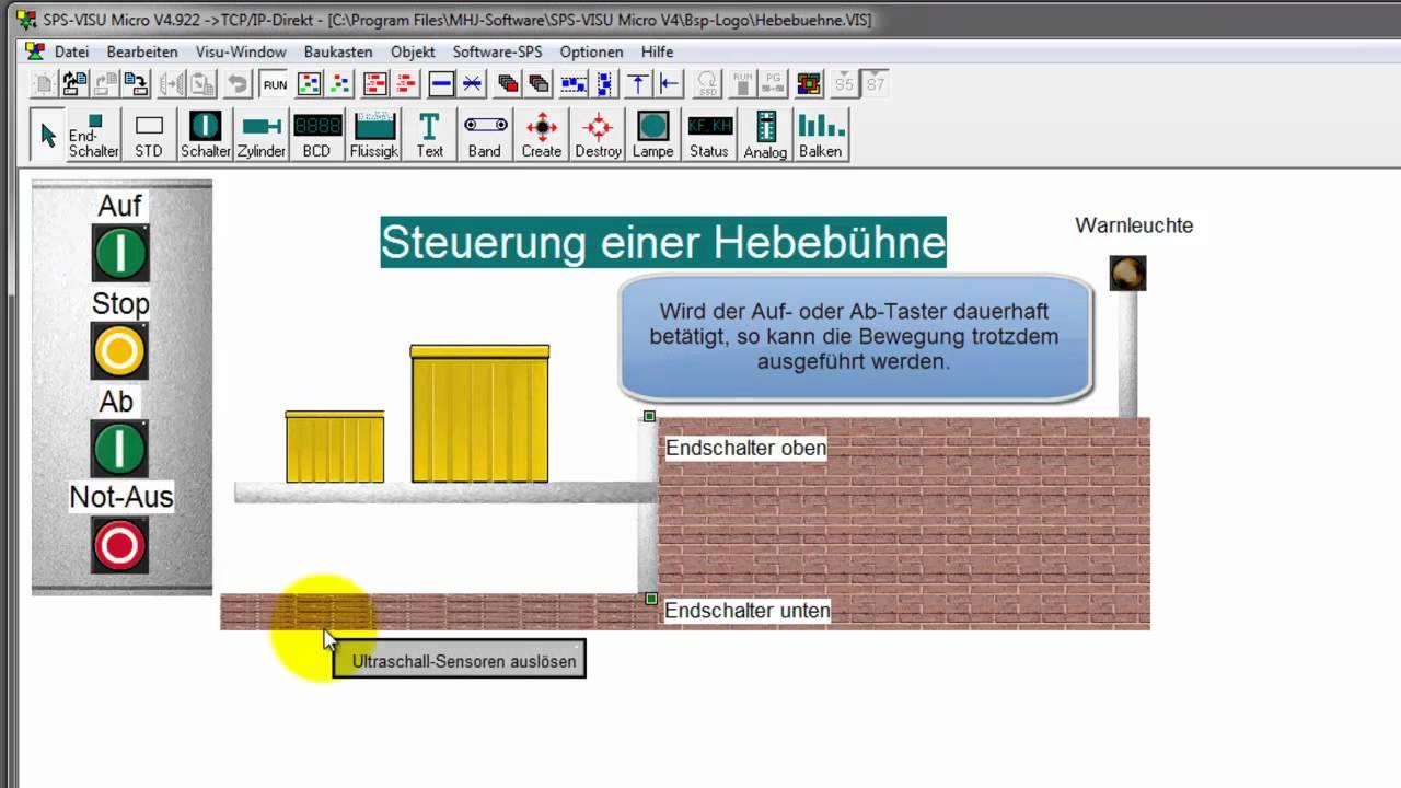 Beispielanlagen der Anlagensimulation SPS-VISU Micro für LOGO! von ...