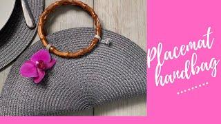 DIY PLACEMAT Handbag | HOW to make a PLACEMAT PURSE
