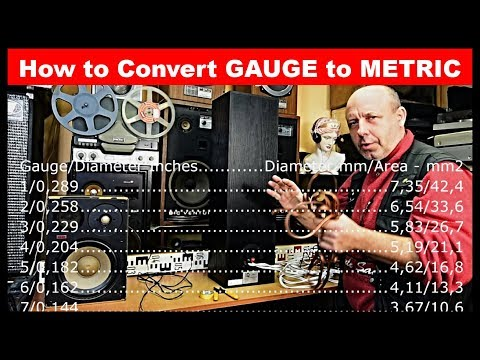 How to Convert AWG - American Wire Gauge to Diameter and Metric