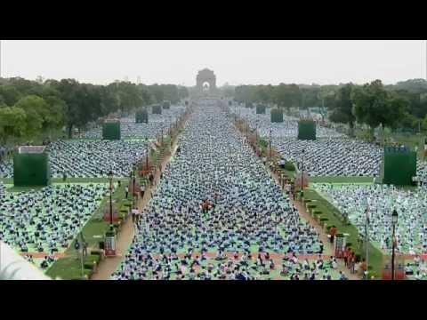 PM Modi at International Day of Yoga event at Rajpath, Delhi