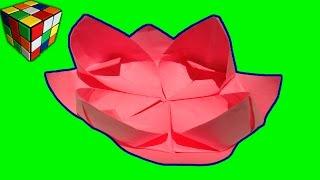 Оригами цветы. Как сделать цветок лотоса из бумаги своими руками. Поделки из бумаги.(Учимся рукоделию! Оригами цветы. Как сделать цветок лотоса из бумаги! Цветок лотоса оригами своими руками!..., 2016-11-05T16:00:02.000Z)