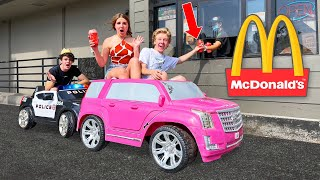GOING IN DRIVE THRUS IN TOY CARS PRANK! 🚘 | Piper Rockelle