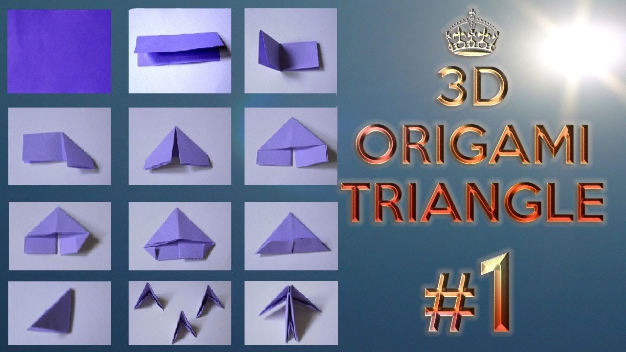 3D Origami Triangle Tutorial Rehber