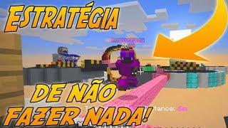 ESTRATÉGIA DE NÃO FAZER NADA NO BEDWARS | COM MOONKASE ( Minecraft )