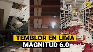 TEMBLOR en LIMA: Captan imágenes del SISMO DE 6.0 que sacudió Lima y Mala