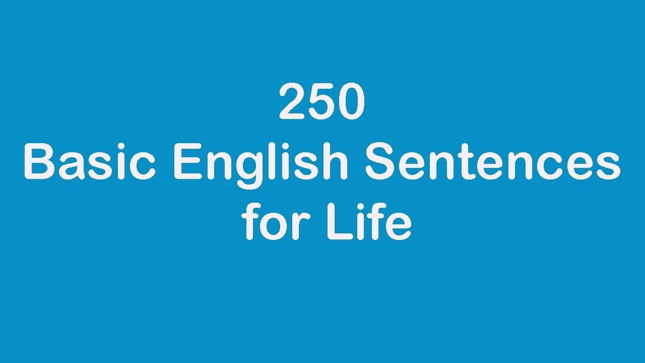 250 Basic English Sentences for Life