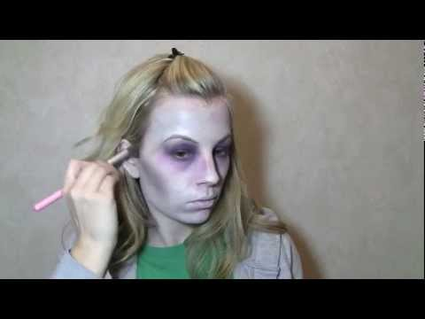 Basic Zombie/Dead Girl Beginner Makeup - YouTube