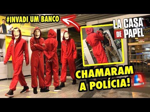 """INVADIMOS UM BANCO VESTIDO DE """"LA CASA DE PAPEL"""" CHAMARAM A POLÍCIA!! (Ft.Nathan Pereira)"""