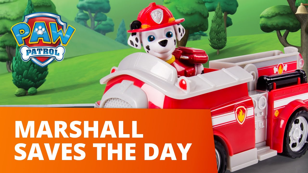 PAW Patrol | Marshall's Fire Truck Saves The Day! | Toy Episode