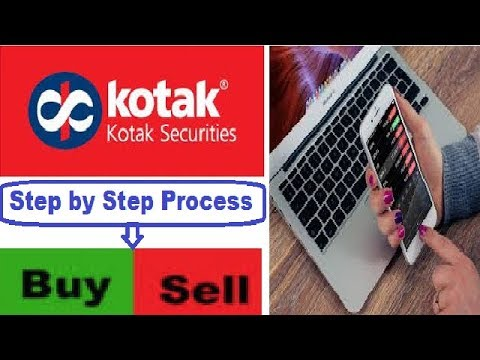 How to place an order using your Kotak Securities Online Trading Account