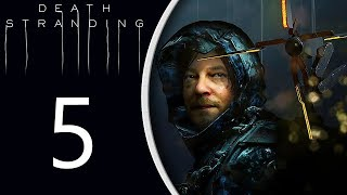 Death Stranding playthrough pt5 - A Scary Up-Close BT Encounter!