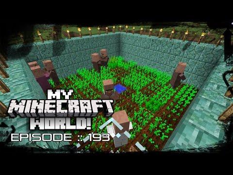 MY MINECRAFT WORLD! | VILLAGER TRAIN WRECK! | Episode 193 (Let's Play 1080p)
