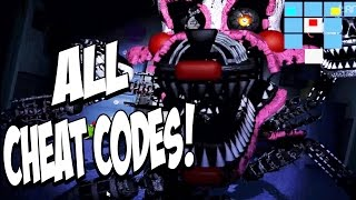 Five Nights at Freddys 4 Halloween Edition: ALL CHEAT CODES! Nightmare MANGLE JUMPSCARE And MORE!