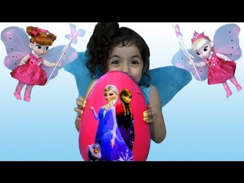 Disney Frozen Videos – Elsa Toys In Giant Frozen Surprise Egg Opening – Frozen Fairy Eggs