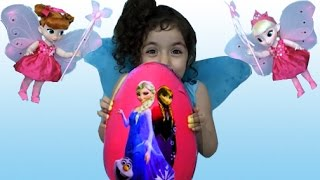 FROZEN FAIRY GIANT SURPRISE EGG | ELSA AND ANNA | Toy Unboxing Videos | Princesses In Real Life