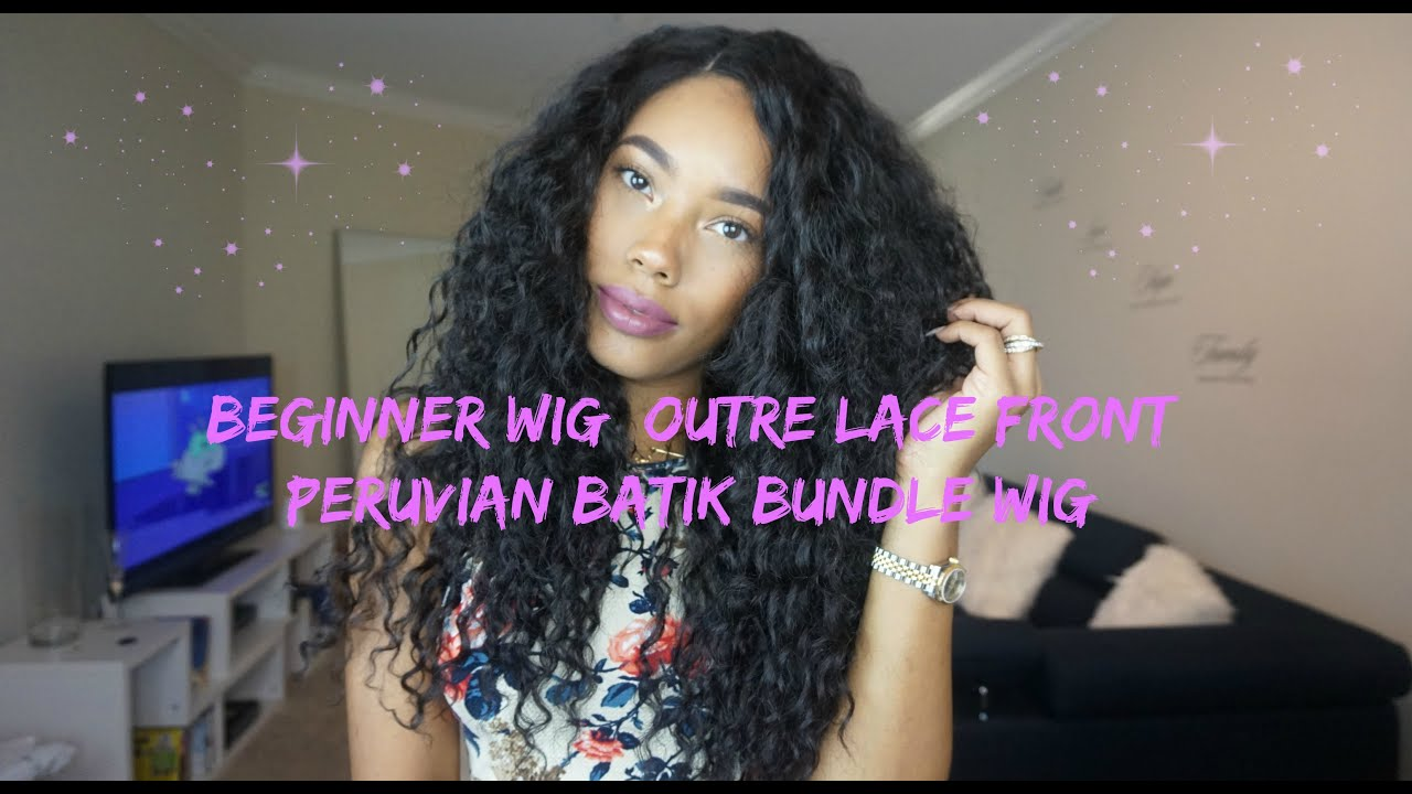 Curly Wig For Beginners Sistawigs Outre Lace Front Peruvian Batik Bundle You
