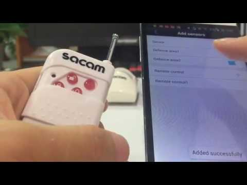 download Video manual or instruction for how to add wireless alarm sensors to SACAM ip camera yoosee