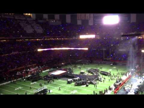 Super Bowl Halftime Show Setup - Beyonce