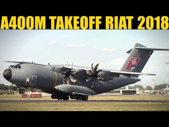 Spanish A400M Takeoff | RIAT 2018