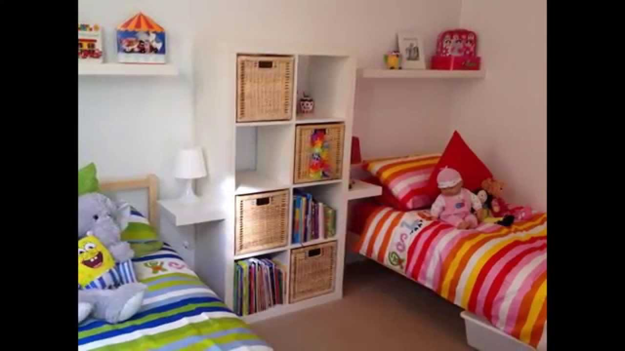 Boy and girl shared bedroom ideas youtube for Shared boy and girl room ideas
