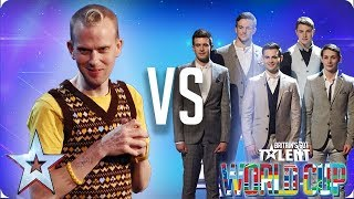 QUARTER FINALS: Robert White vs Collabro | Britain's Got Talent World Cup 2018
