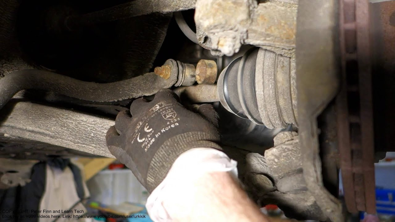 hight resolution of how to replace front stabilizer bar toyota corolla years 1991 to 2007