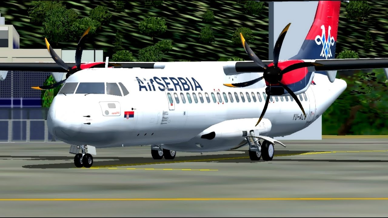 Avionske Karte Air Serbia.Fsx Air Serbia Atr 72 500 Yu Alu Takeoff Tivat Airport