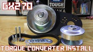 predator 301cc gx270 40 series torque converter install
