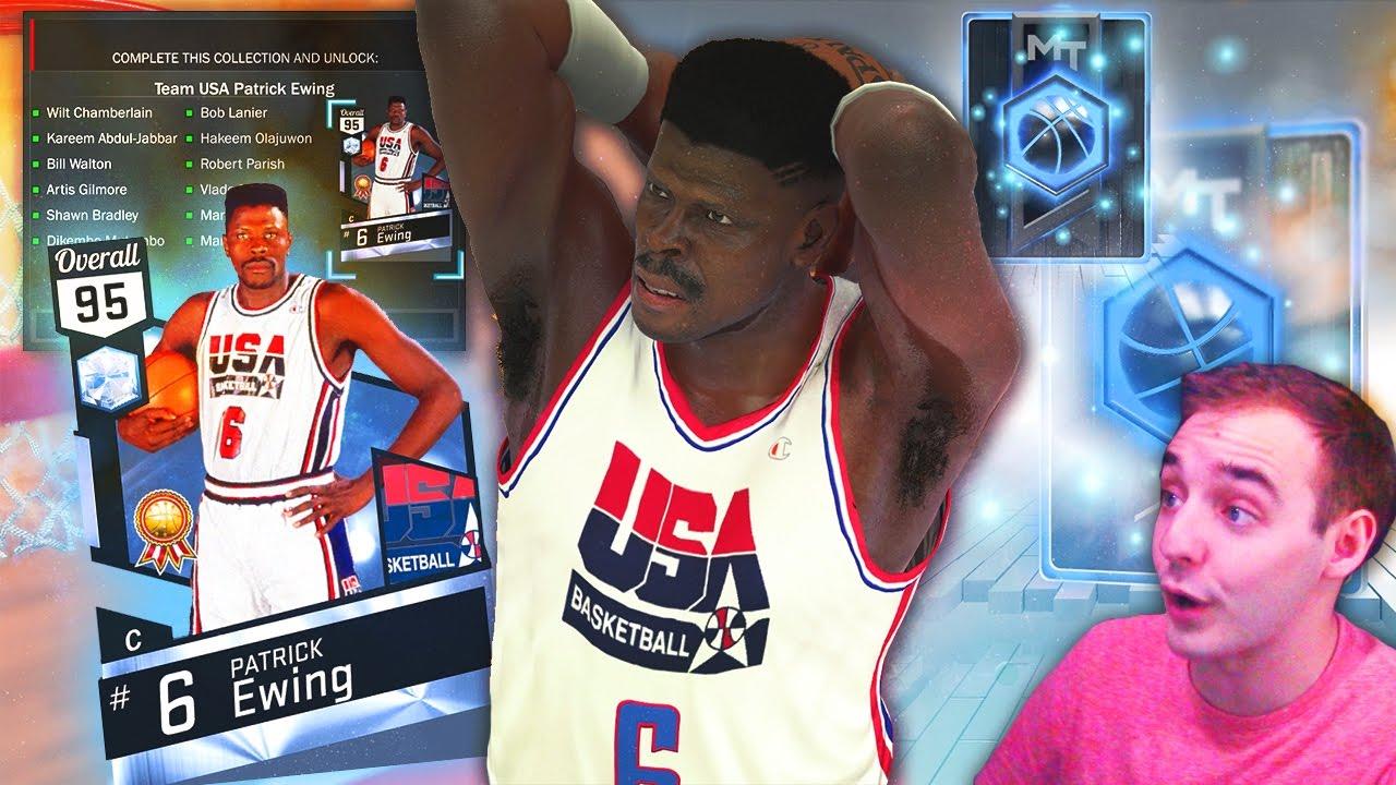 NBA 2K17 My Team WE GOT DIAMOND PATRICK EWING UNREAL STATS & 4