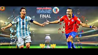 مشاهدة مباراة الارجنتين وتشيلي بث مباشر يوتيوب - كوبا 2015