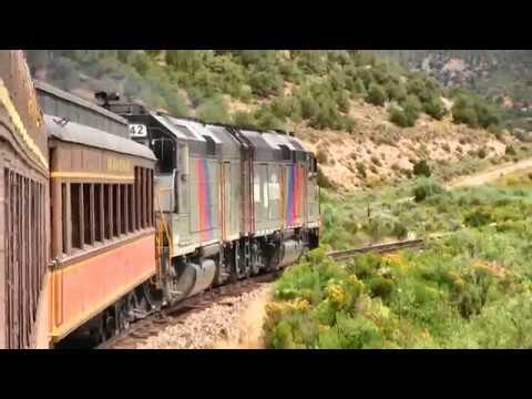 Rio Grande Scenic Railroad train ride Alamosa to Fir, Colorado with GP40PH-2's.