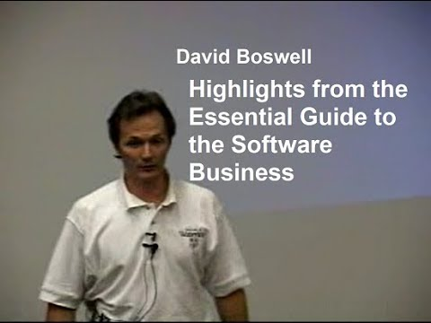 2003-06-13: Highlights from the Essential Guide to the Software Business (Presentation)