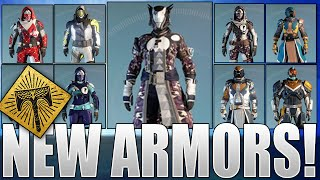 destiny rise of iron new armors dead orbit fwc new monarchy vanguard crucible armors more