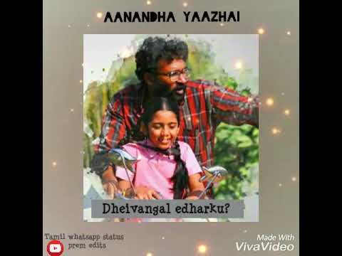 Lovely lines from aanandha yaazhai song whatsapp status😍Aanandha yazhai meetugirai song status prem