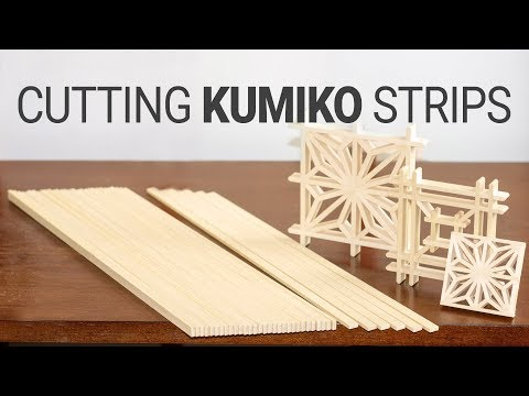 Cutting Kumiko Strips by Handtools // Kumiko Making Part 1