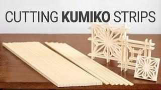 Making Kumiko Strips by Handtools // Kumiko Making Part 1