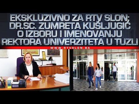 Ekskluzivno: dr.sc.Zumreta Kušljugić o izboru i imenovanju rektora Univerziteta u Tuzli - 27.03.2017