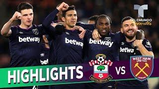Southampton vs. West Ham: 0-1 Goals & Highlights   Premier League   Telemundo Deportes