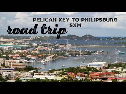 Road trip. Pelican key to Philipsburg. St. Maarten.SXM