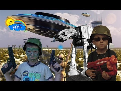 Домашние сражения игрушек ↑ Военные солдатики, NERF WAR, Нёрфы, космические машины ↑ Обзор