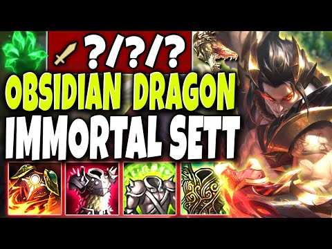 Meet the *NEW* Obsidian Dragon Immortal God SETT Skin 🐲 LoL Top Lane Dragon Sett skin PBE Gameplay