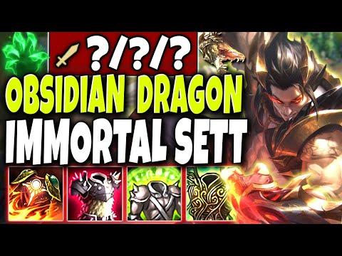 Meet the *NEW* Obsidian Dragon Immortal God SETT Skin 🐲 LoL Top Lane Dragon Sett skin PBE Gameplay
