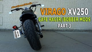 Virago 250 Cafe Racer Bobber Mods Part 3