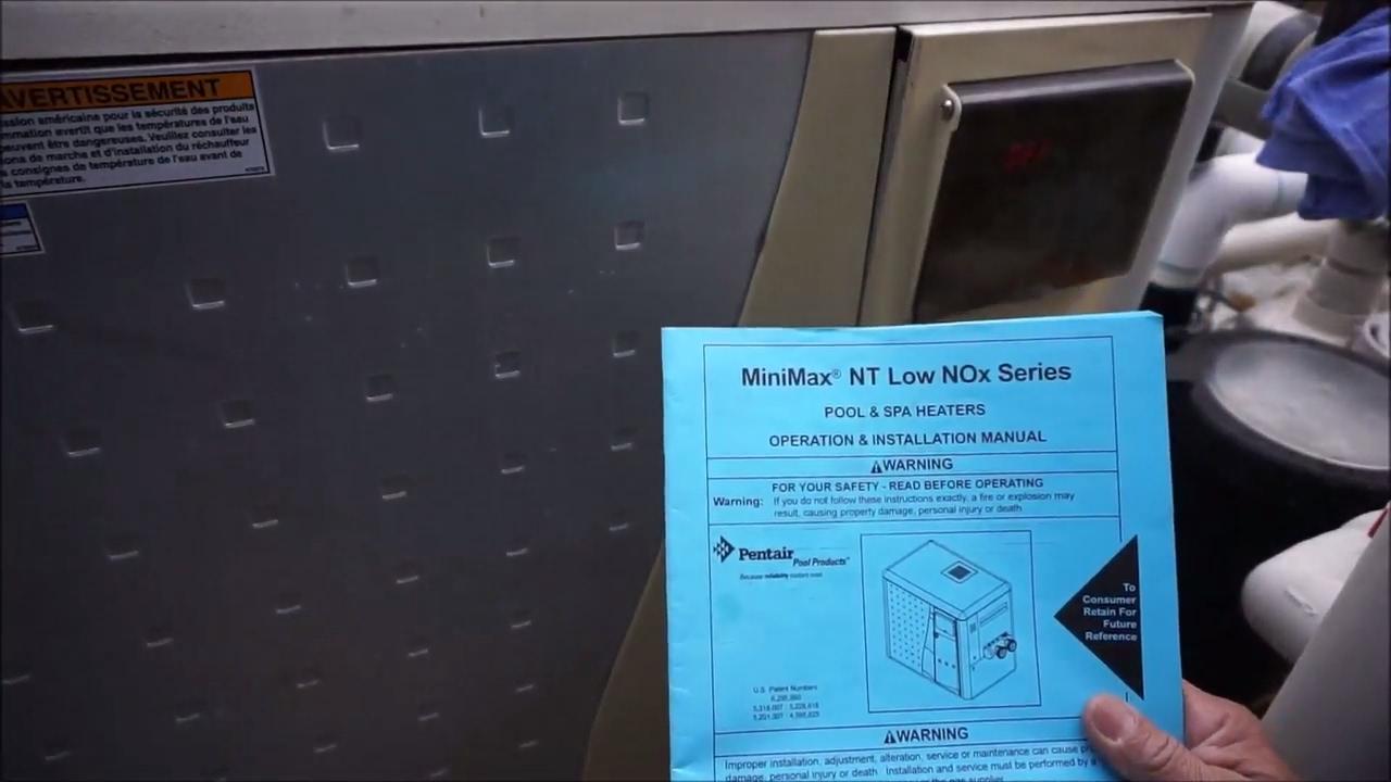 minimax nt pool heater starts and then shuts off on error code eo4 rh youtube com minimax nt std manual pentair heater minimax nt manual