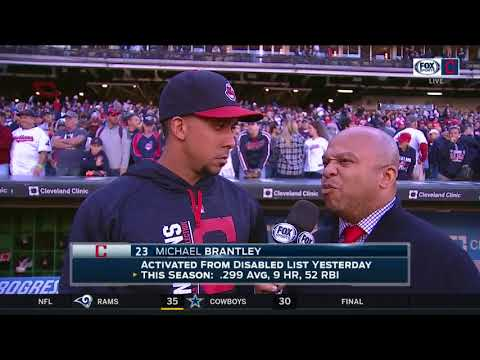 Michael Brantley is back from his injury and looking forward to the playoffs