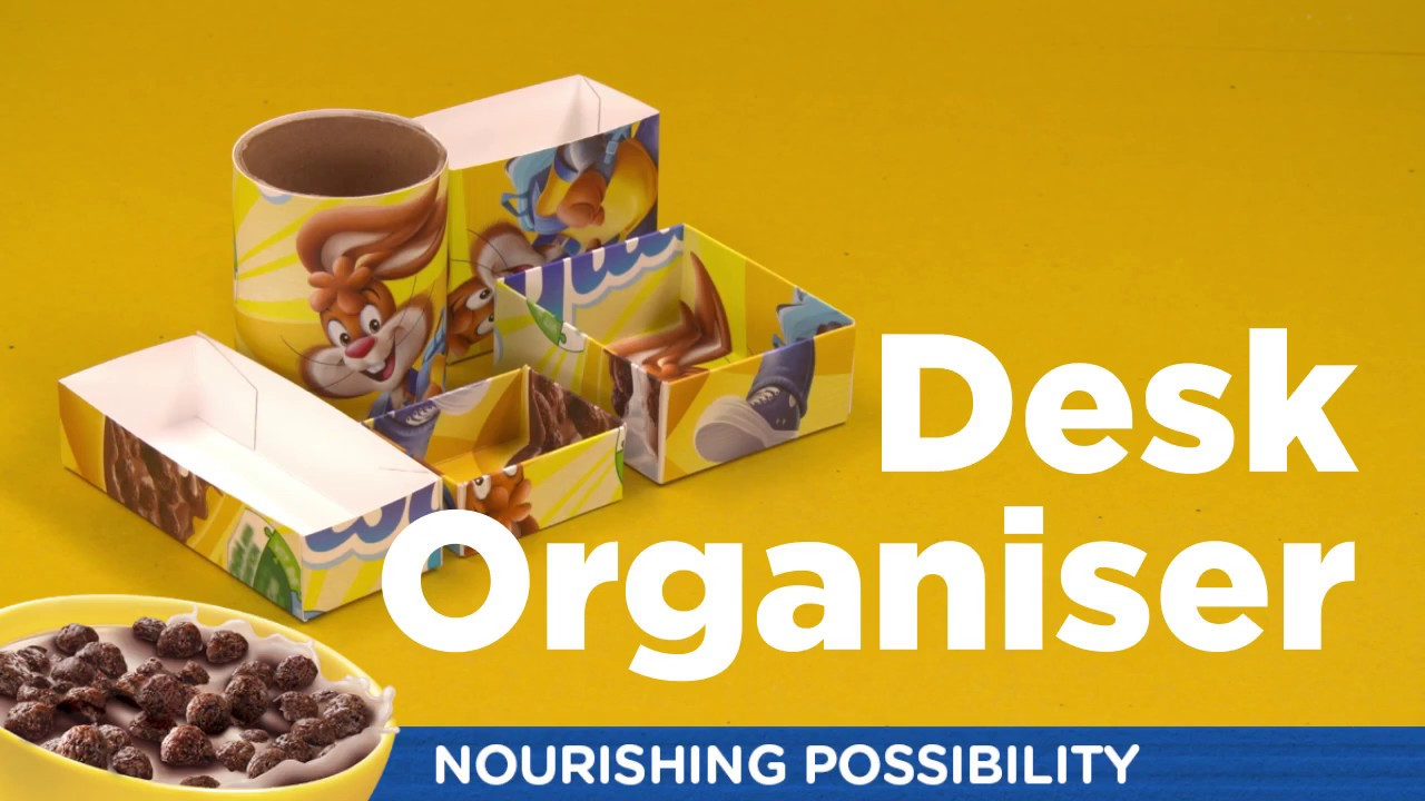 How to make a desk organiser out of a cereal box for What to make out of cereal boxes