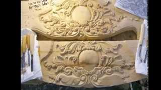 Wood Carved Mantel  For Fireplaces - Reproduction / Ancadramente Seminee Sculptate By Radu Man