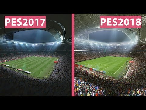 PES 2017 vs. PES 2018 on PC – Graphics Comparison