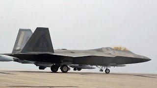 グアム アンダーセン空軍基地 f 22 b 52 f a 18 f 15 f 16 演習 hd